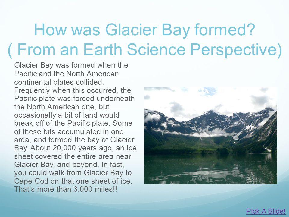 How was Glacier Bay formed.