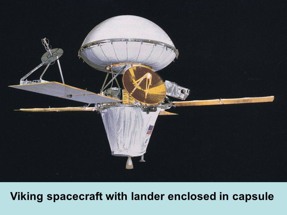 Viking spacecraft with lander enclosed in capsule
