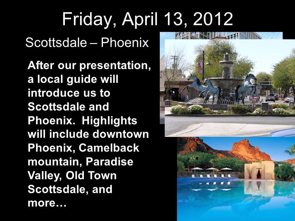 Thursday, April 19, 2012 Las Vegas, Nevada Go hiking, or try your luck at a casino…