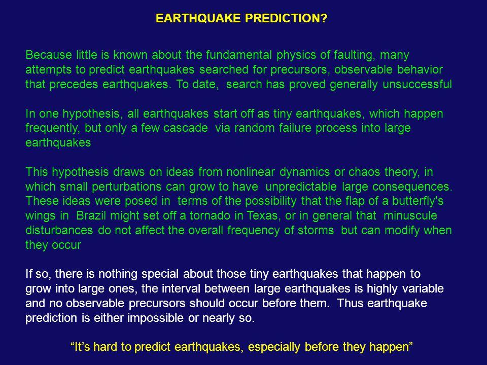 EARTHQUAKE PREDICTION.