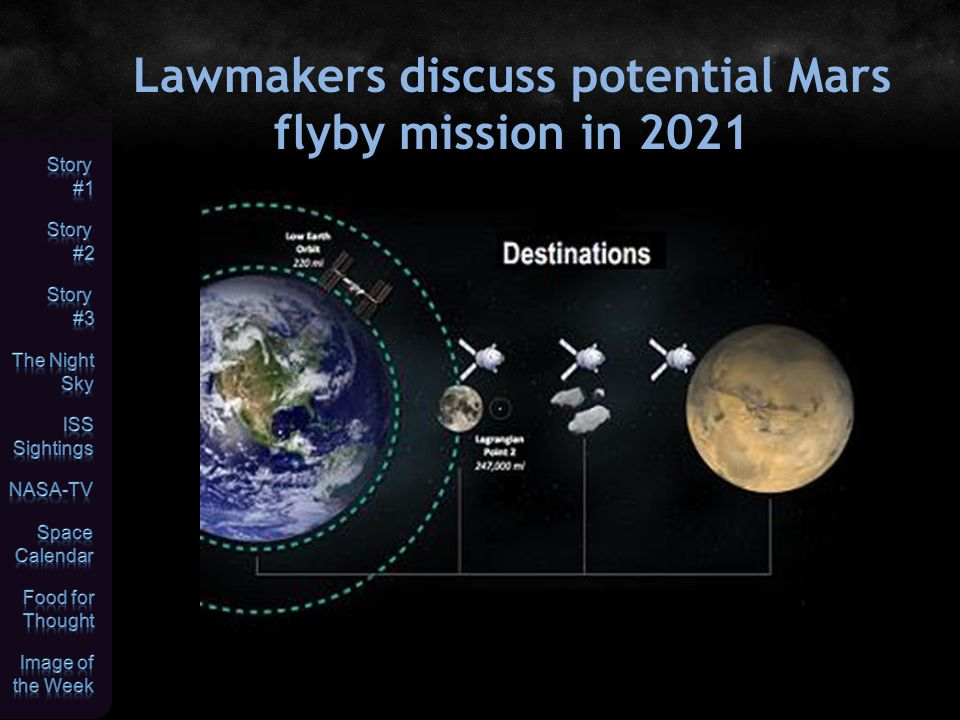 Lawmakers discuss potential Mars flyby mission in 2021