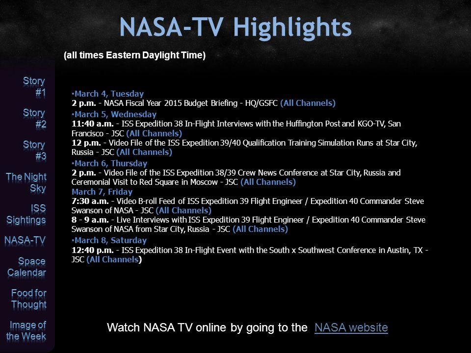 Space Calendar JPL Space Calendar Mar 04 - Comet 262P/McNaught-Russell At Opposition (3.918 AU)Comet 262P/McNaught-RussellAt Opposition Mar 04 - Comet C/2012 X2 (PANSTARRS) At Opposition (4.480 AU)Comet C/2012 X2 (PANSTARRS)At Opposition Mar 04 - Asteroid 2410 Morrison Closest Approach To Earth (1.100 AU)Asteroid 2410 Morrison Mar 04 - Asteroid 1762 Russell Closest Approach To Earth (2.015 AU)Asteroid 1762 Russell Mar 05 - Comet P/2013 TL117 (Lemmon) Closest Approach To Earth (0.621 AU)Comet P/2013 TL117 (Lemmon)Closest Approach To Earth Mar 05 - Comet C/2013 E1 (McNaught) At Opposition (6.981 AU)Comet C/2013 E1 (McNaught)At Opposition Mar 05 - [Feb 27] Asteroid 2014 DP21 Near-Earth Flyby (0.027 AU)Asteroid 2014 DP21Near-Earth Flyby Mar 05 - Asteroid 4987 Flamsteed Closest Approach To Earth (1.212 AU)Asteroid 4987 Flamsteed Mar 05 - Asteroid 896 Sphinx Closest Approach To Earth (1.304 AU)Asteroid 896 Sphinx Mar 05 - Asteroid 15318 Innsbrook Closest Approach To Earth (1.682 AU)Asteroid 15318 Innsbrook Mar 05 - Asteroid 300221 Brucebills Closest Approach To Earth (2.367 AU)Asteroid 300221 Brucebills Mar 05 - 35th Anniversary (1979), Voyager 1, Jupiter FlybyVoyager 1 Mar 06 - [Feb 28] Cassini, Titan FlybyCassini Mar 06 - Comet C/2013 B2 (Catalina) At Opposition (3.365 AU)Comet C/2013 B2 (Catalina)At Opposition Mar 06 - [Feb 25] Asteroid 2014 DO7 Near-Earth Flyby (0.071 AU)Asteroid 2014 DO7Near-Earth Flyby Mar 06 - Asteroid 52301 Qumran Closest Approach To Earth (1.667 AU)Asteroid 52301 Qumran Mar 06 - Asteroid 16260 Sputnik Closest Approach To Earth (1.833 AU)Asteroid 16260 Sputnik Mar 06 - Asteroid 11947 Kimclijsters Closest Approach To Earth (2.782 AU)Asteroid 11947 Kimclijsters Mar 06 - 5th Anniversary (2009), Kepler LaunchKepler Mar 07 - Comet 52P/Harrington-Abell Perihelion (1.773 AU)Comet 52P/Harrington-AbellPerihelion Mar 07 - Comet 112P/Urata-Niijima At Opposition (1.894 AU)Comet 112P/Urata-NiijimaAt Opposition Mar 07 - Comet P/2010 T2 (PANSTARRS) At Opposition
