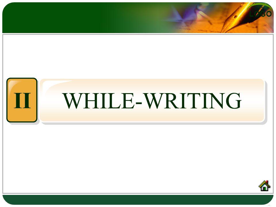 LOGO WHILE-WRITING II