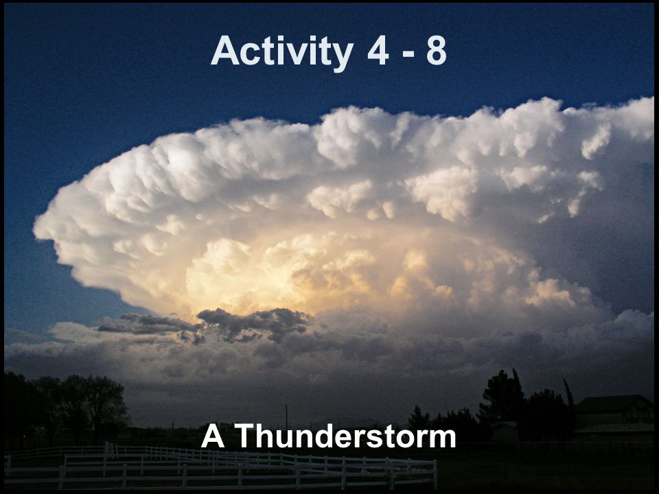 Activity 4 - 8 A Thunderstorm