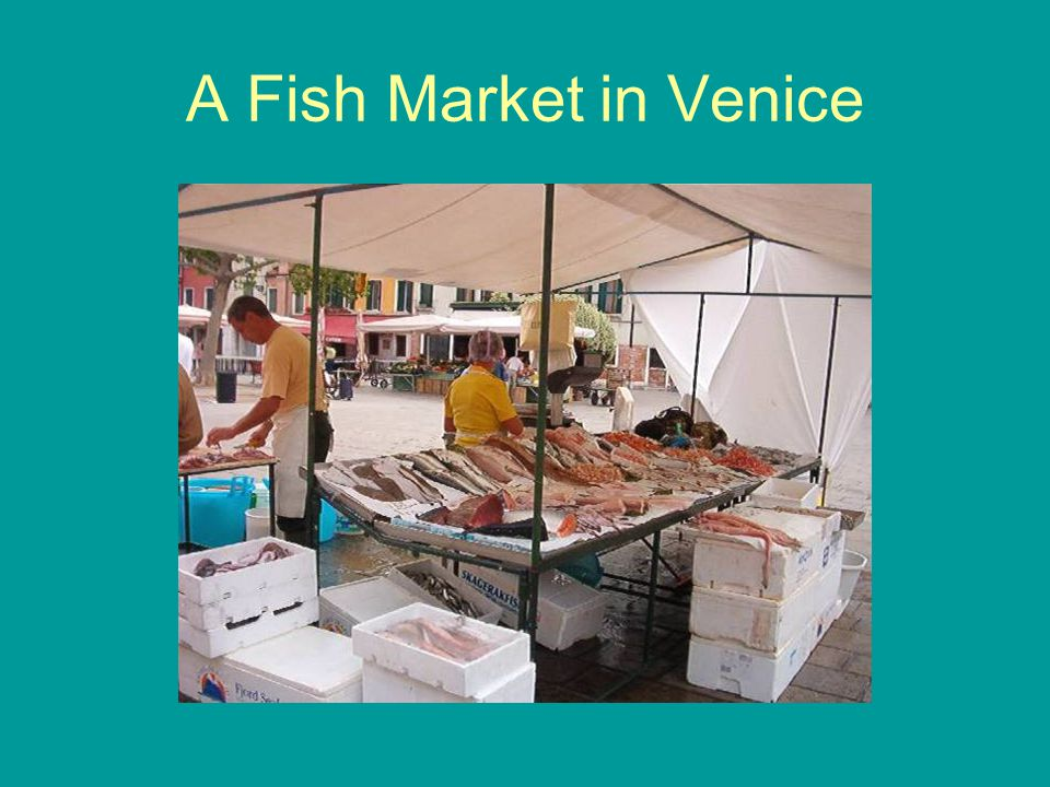 A Fish Market in Venice