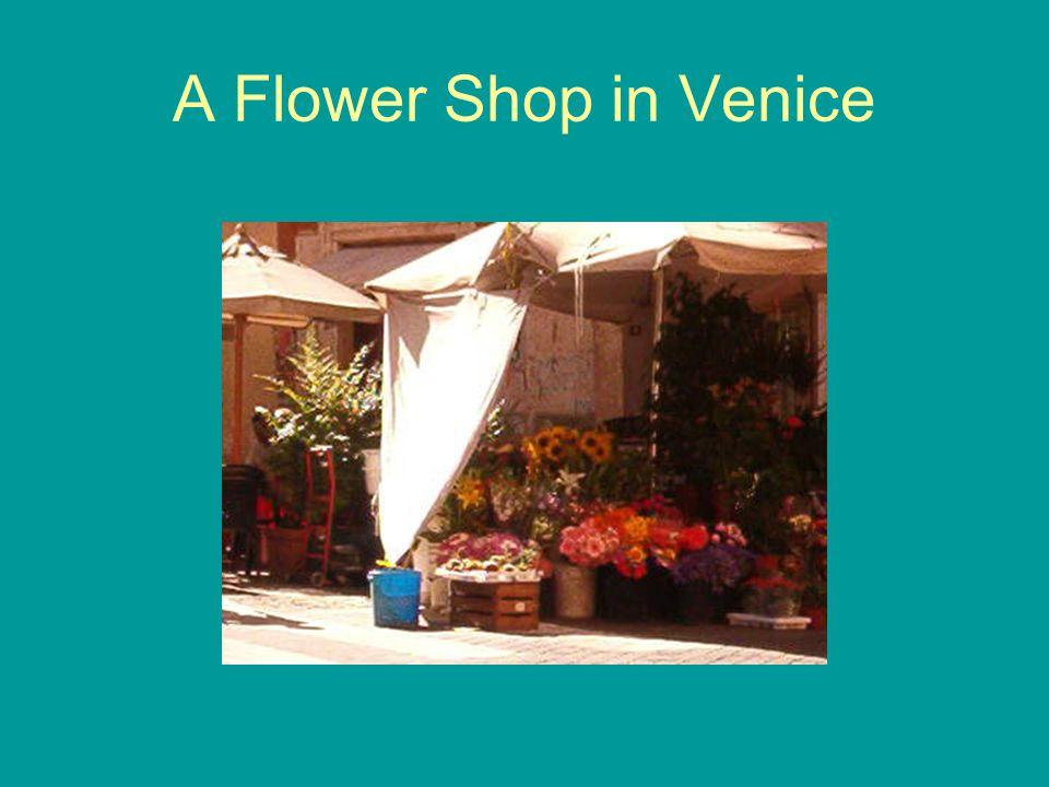 A Flower Shop in Venice
