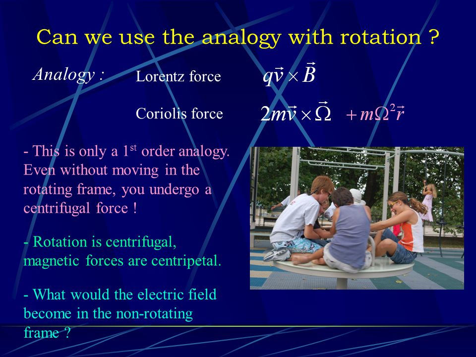 Can we use the analogy with rotation .
