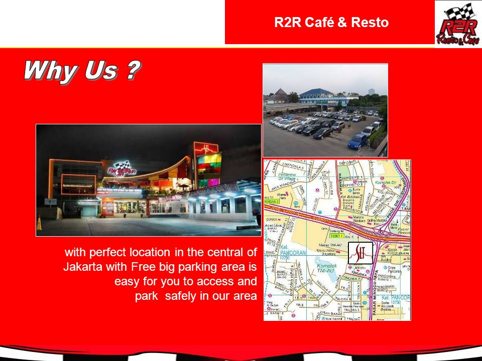 with perfect location in the central of Jakarta with Free big parking area is easy for you to access and park safely in our area