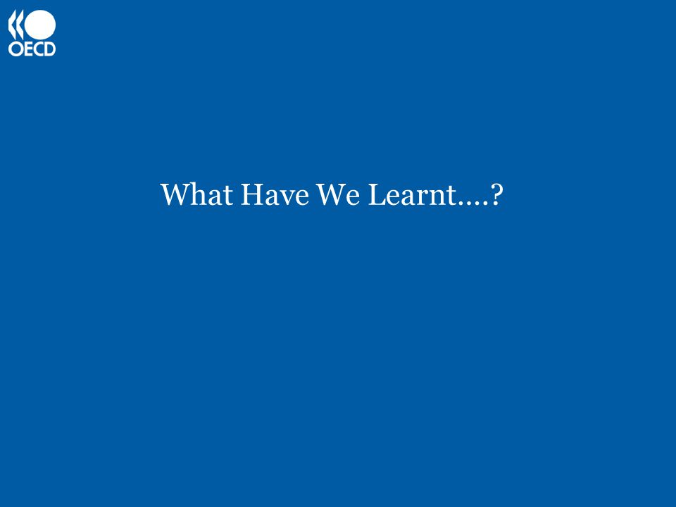 What Have We Learnt….?