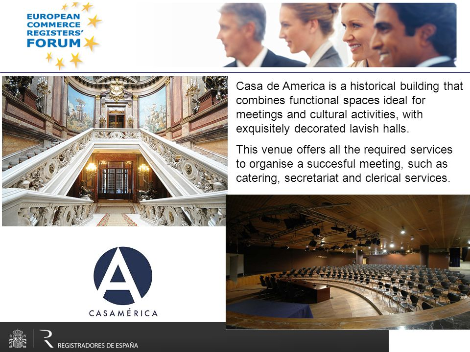 Casa de America is a historical building that combines functional spaces ideal for meetings and cultural activities, with exquisitely decorated lavish halls.