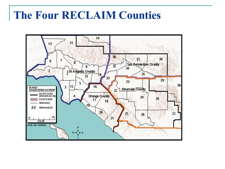 The Four RECLAIM Counties
