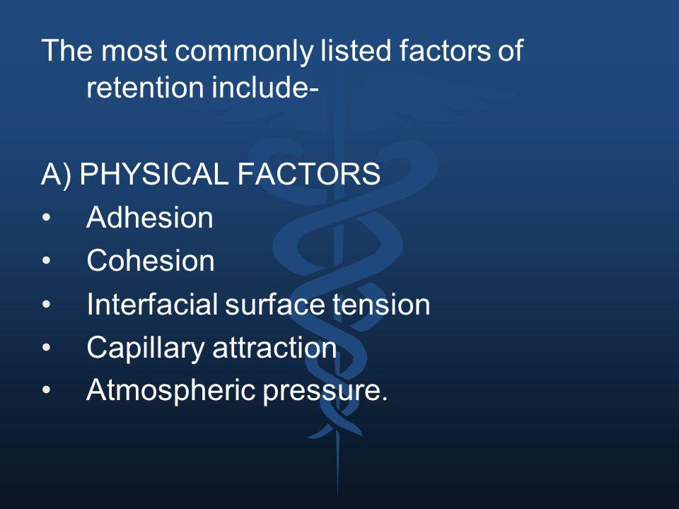 MCQs 1.Adequate retention in complete denture provides- a.