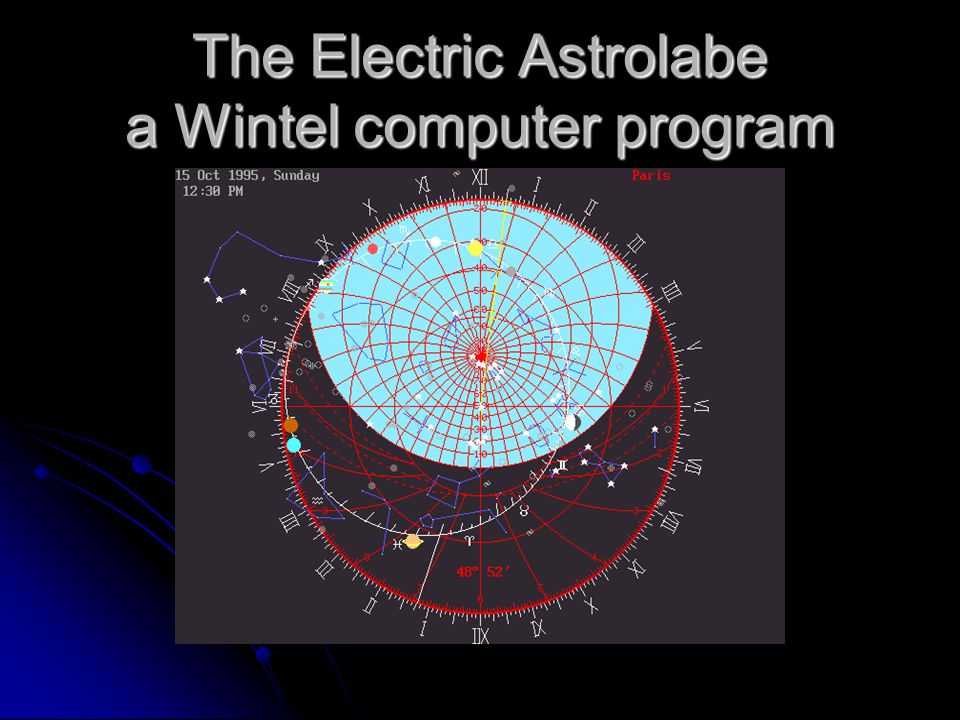 The Electric Astrolabe a Wintel computer program
