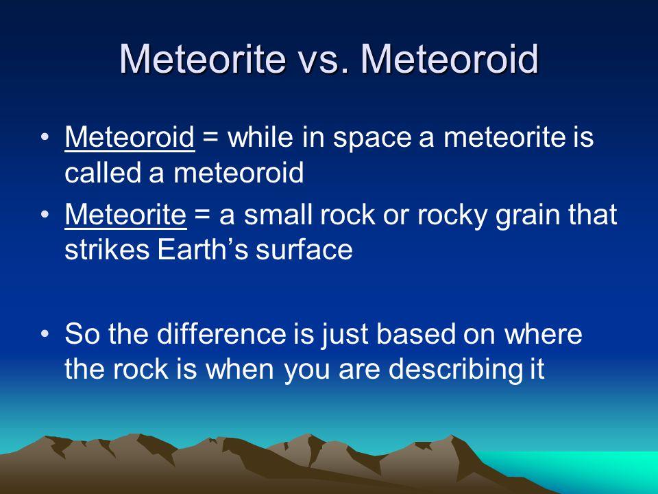 Meteorite vs.