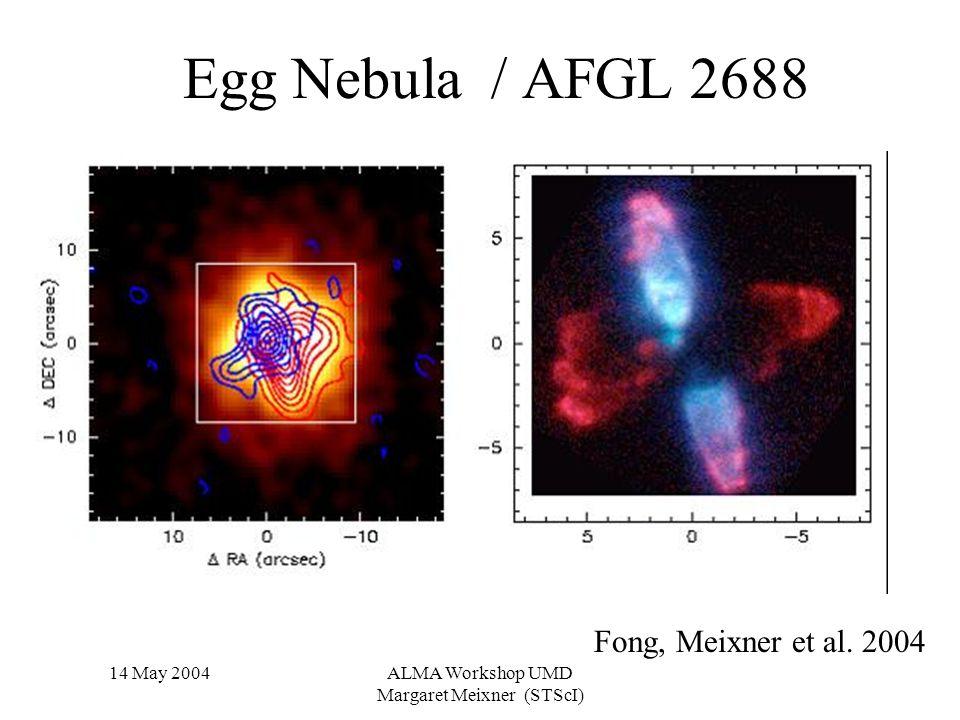 14 May 2004ALMA Workshop UMD Margaret Meixner (STScI) Egg Nebula / AFGL 2688 Fong, Meixner et al.