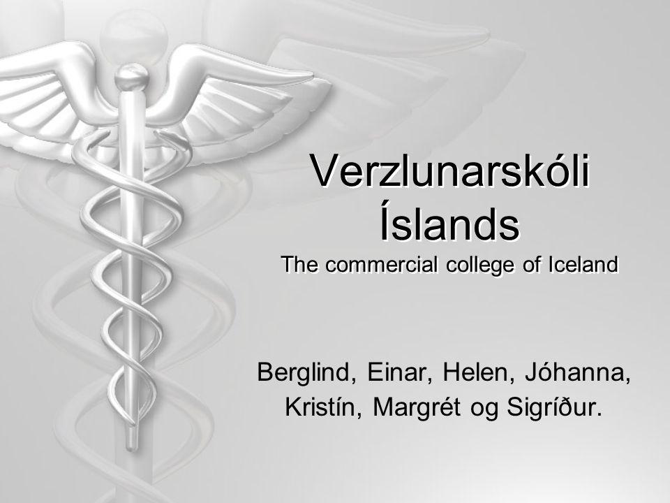 Verzlunarskóli Íslands The commercial college of Iceland Berglind, Einar, Helen, Jóhanna, Kristín, Margrét og Sigríður.