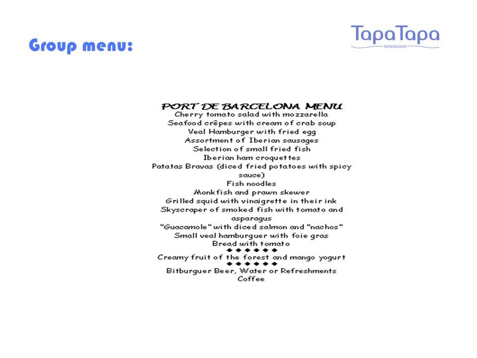 Group menu: