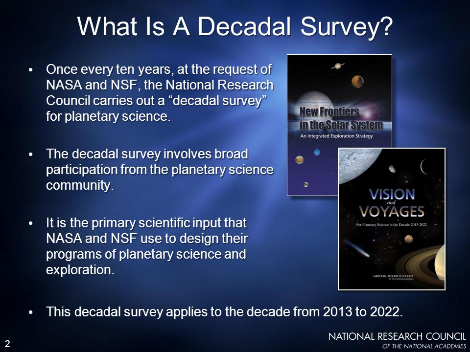 2 What Is A Decadal Survey.