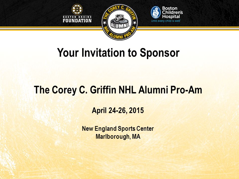 The Corey C.Griffin NHL Alumni Pro-Am The Corey C.