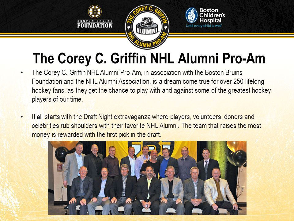 The Corey C. Griffin NHL Alumni Pro-Am The Corey C.