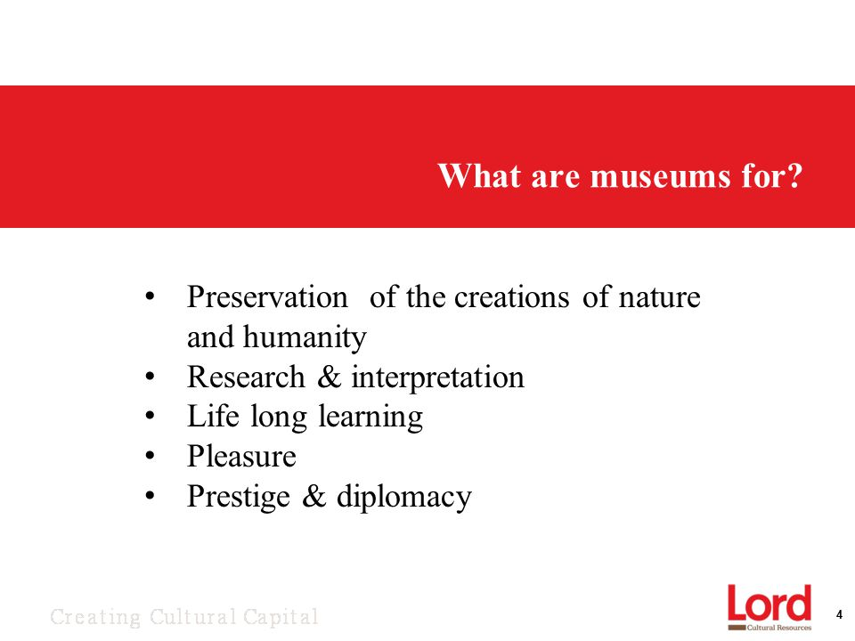 4 What are museums for.