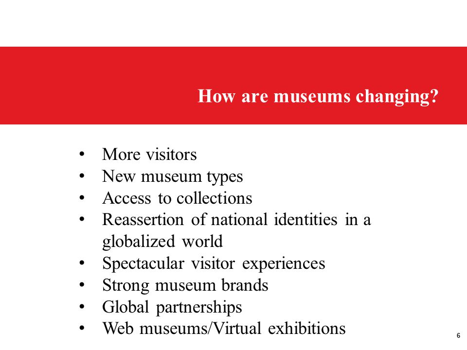 6 How are museums changing.