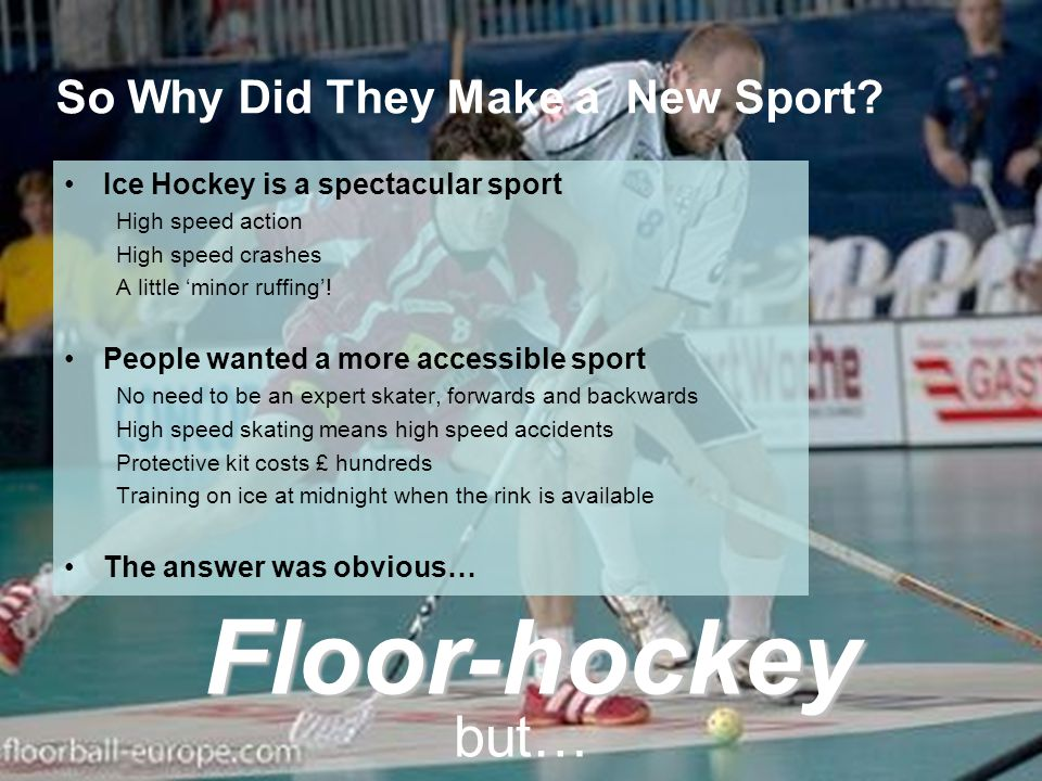 So Why Did They Make a New Sport.