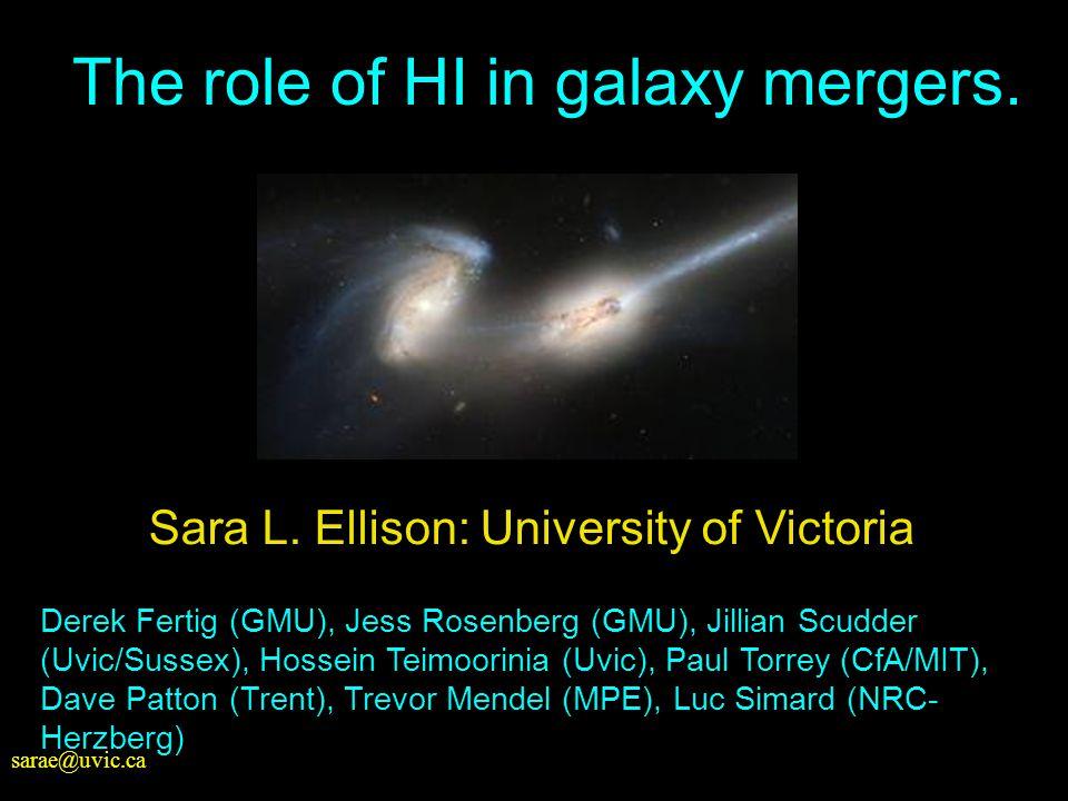 sarae@uvic.ca Sara L. Ellison: University of Victoria Derek Fertig (GMU), Jess Rosenberg (GMU), Jillian Scudder (Uvic/Sussex), Hossein Teimoorinia (Uv
