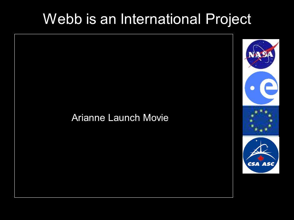 Webb is an International Project Arianne Launch Movie