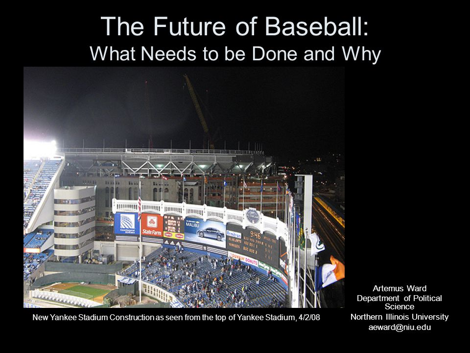 Promoting the Game MLB could do more to attract young fans: –Start World Series games earlier; –Open ballparks earlier so that fans can watch the home team take batting practice; –Increase the number of discounted family games; –Build parks and open spaces for urban youth to play the game; –Schedule games with top stars in cities without MLB teams such as Portland, Charlotte, Sacramento, etc; –Expansion: more teams in more cities and players on team rosters.