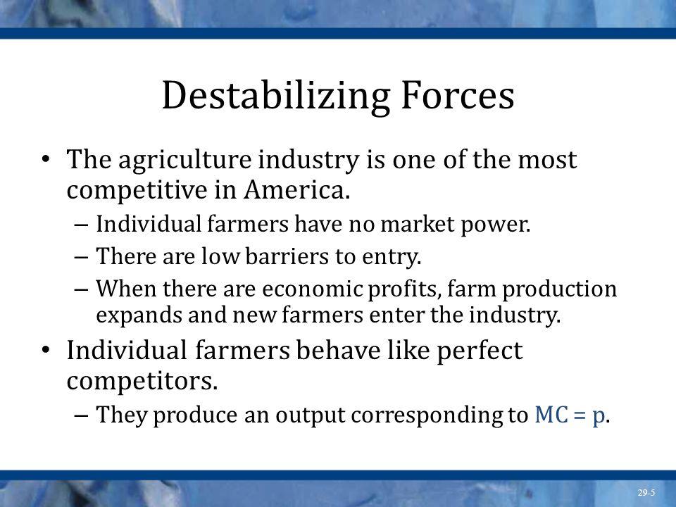 29-6 Destabilizing Forces Technological advance.