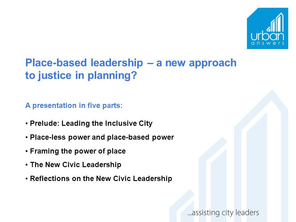Part 1: Prelude: Leading the inclusive city
