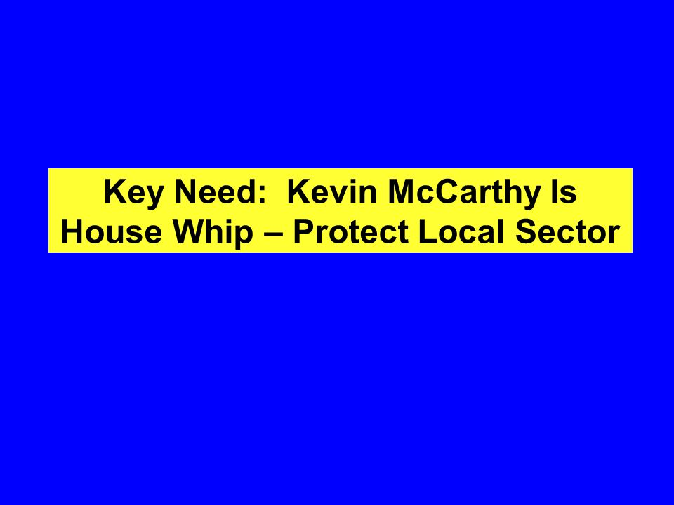 Key Need: Kevin McCarthy Is House Whip – Protect Local Sector