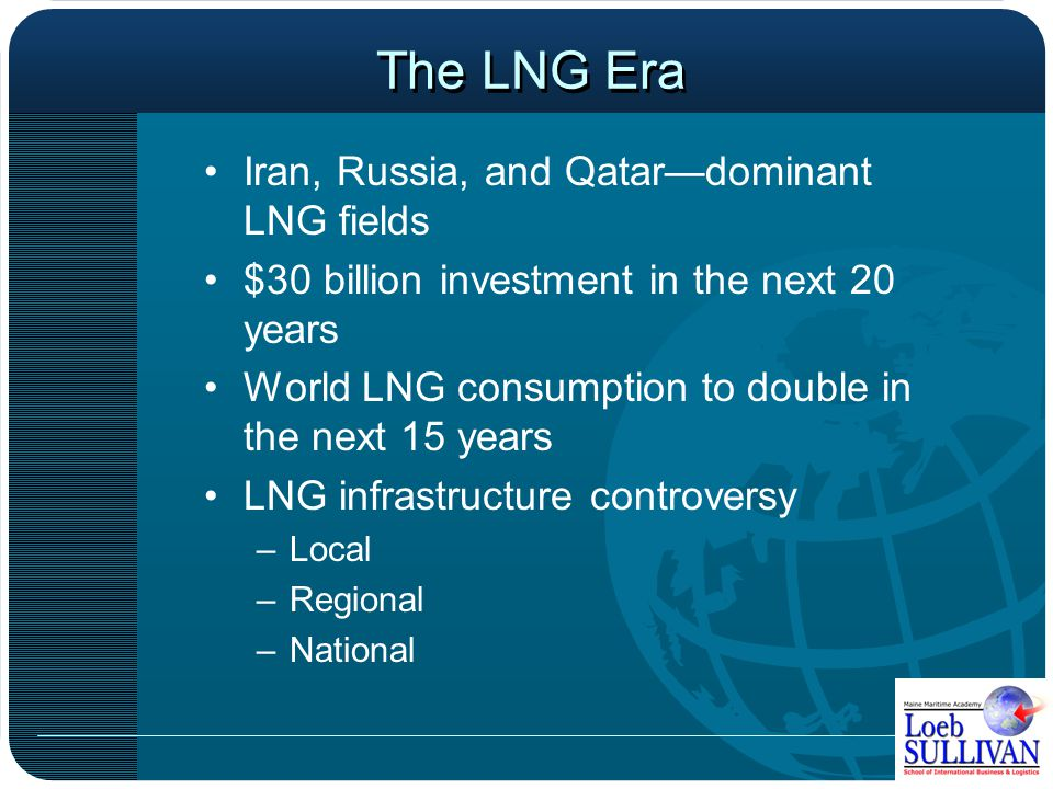 The LNG Era Source: EIA