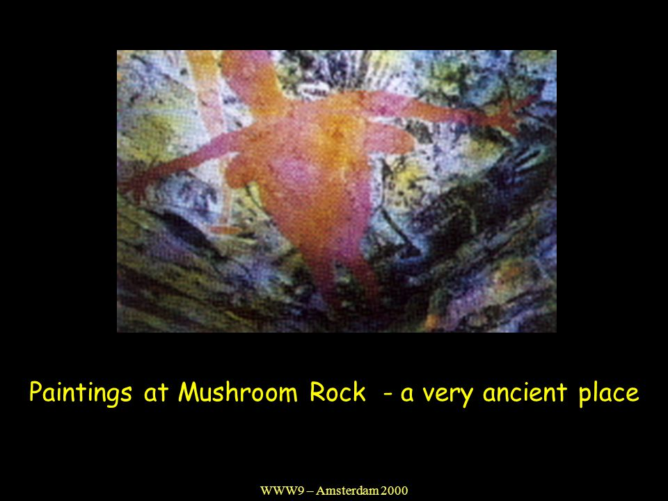 Paintings at Mushroom Rock - a very ancient place