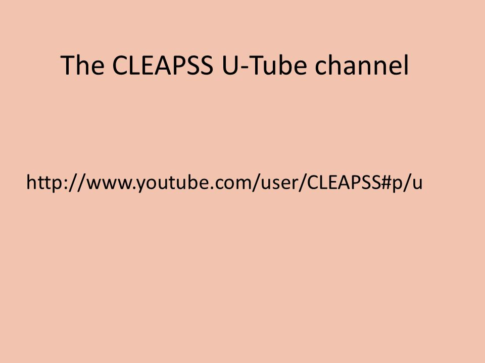 The CLEAPSS U-Tube channel http://www.youtube.com/user/CLEAPSS#p/u