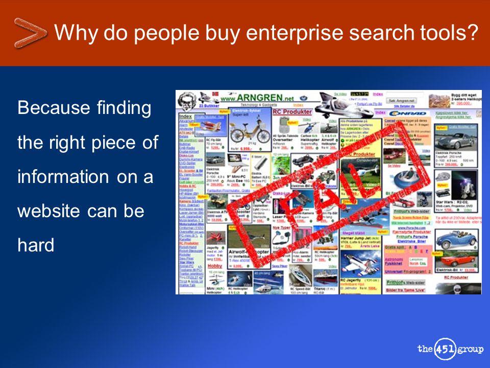 Enterprise search market – the vendors