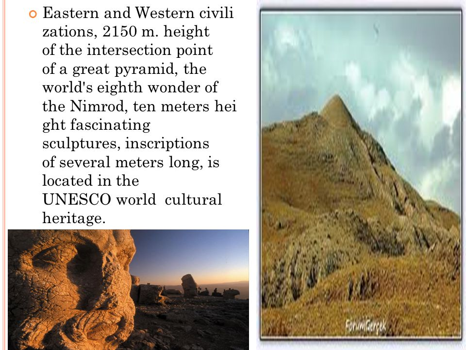Eastern and Western civili zations, 2150 m.