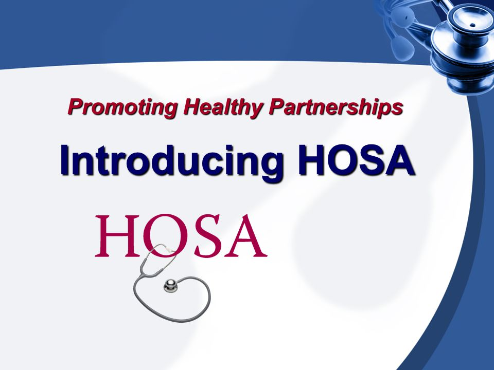 HOSA A student-led organization with a program of work designed to recruit qualified students, provide developmental opportunities and develop the future leaders of the health care community.
