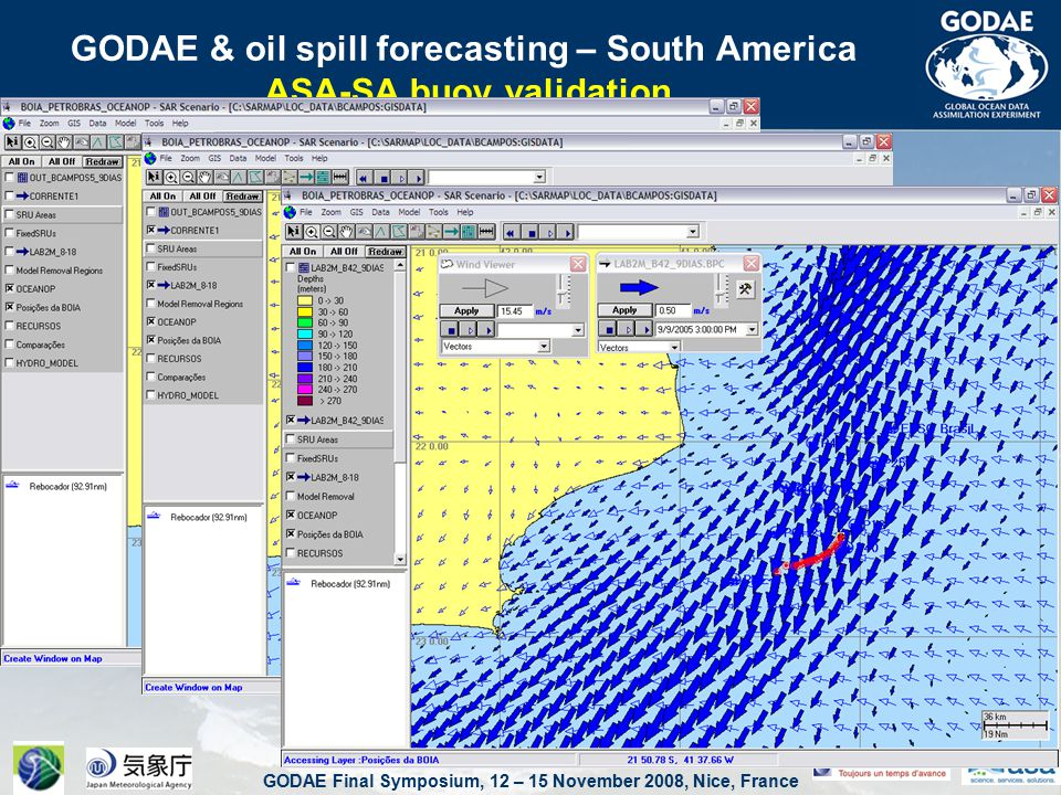 GODAE Final Symposium, 12 – 15 November 2008, Nice, France GODAE & oil spill forecasting – South America ASA-SA buoy validation