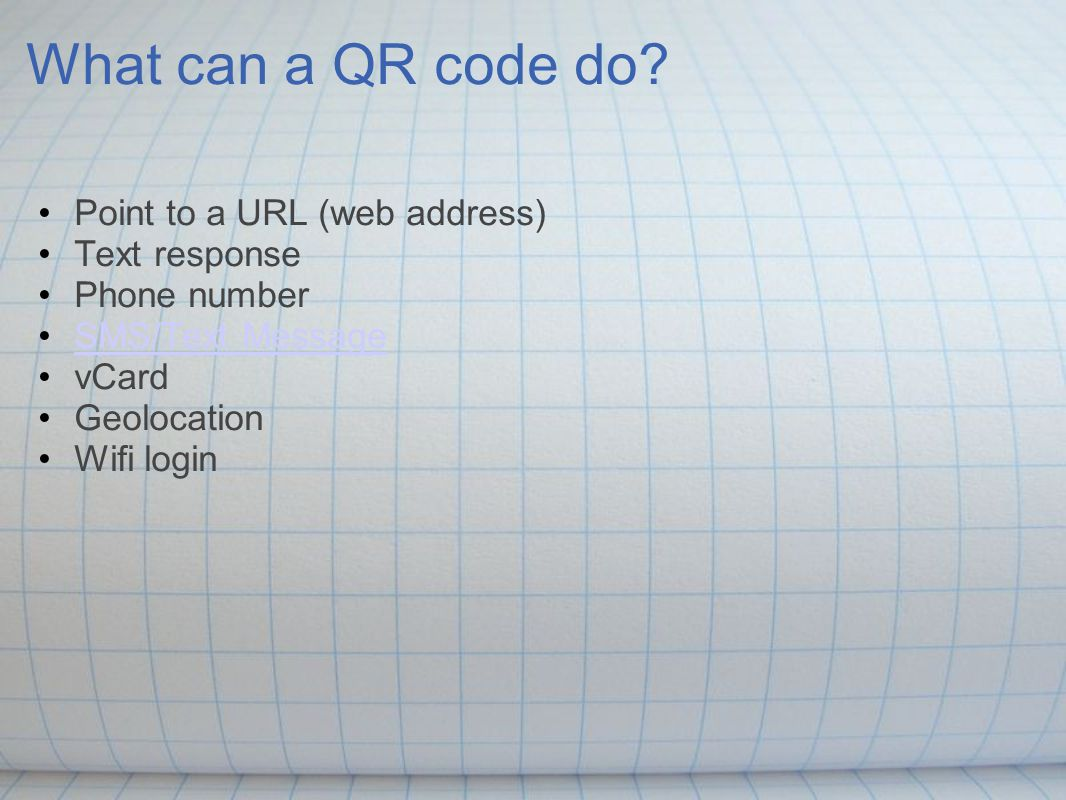 What can a QR code do.