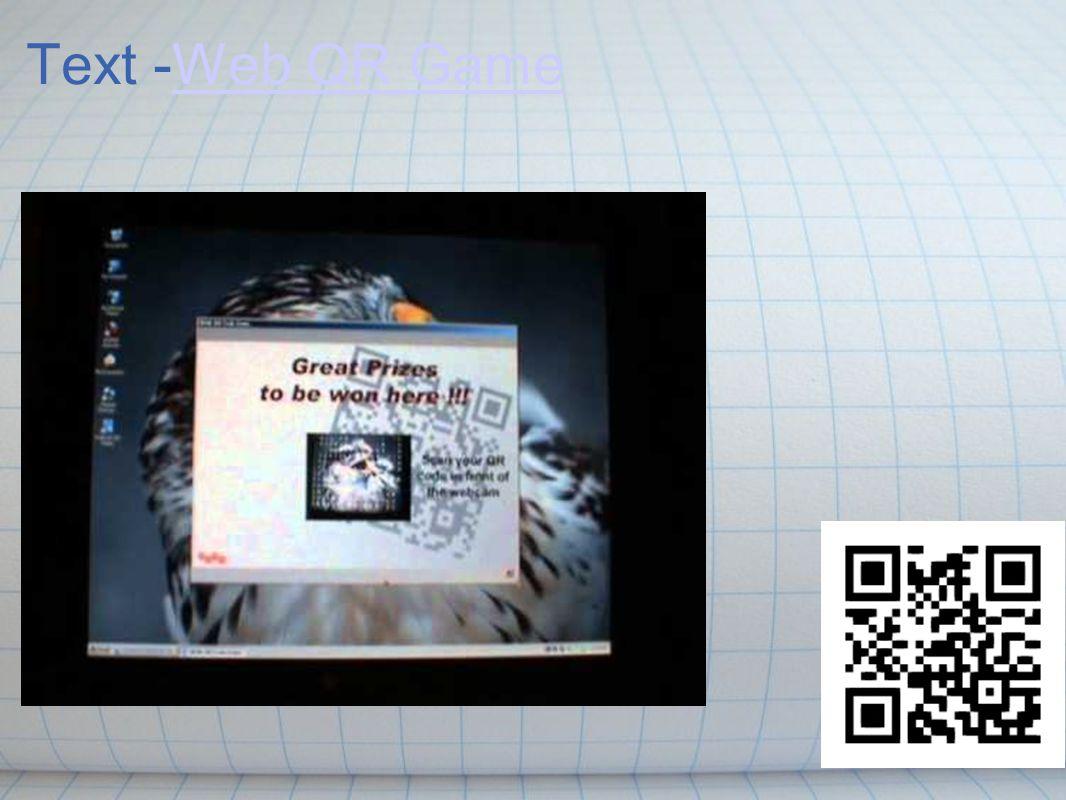 Text -Web QR GameWeb QR Game