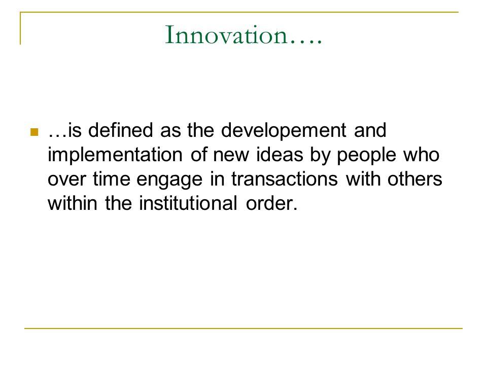 Innovation….