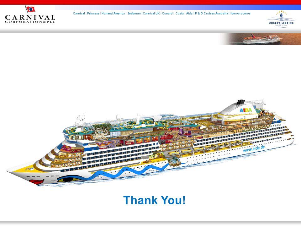 Carnival | Princess | Holland America | Seabourn | Carnival UK | Cunard | Costa | Aida | P & O Cruises Australia | Iberocruceros Thank You!