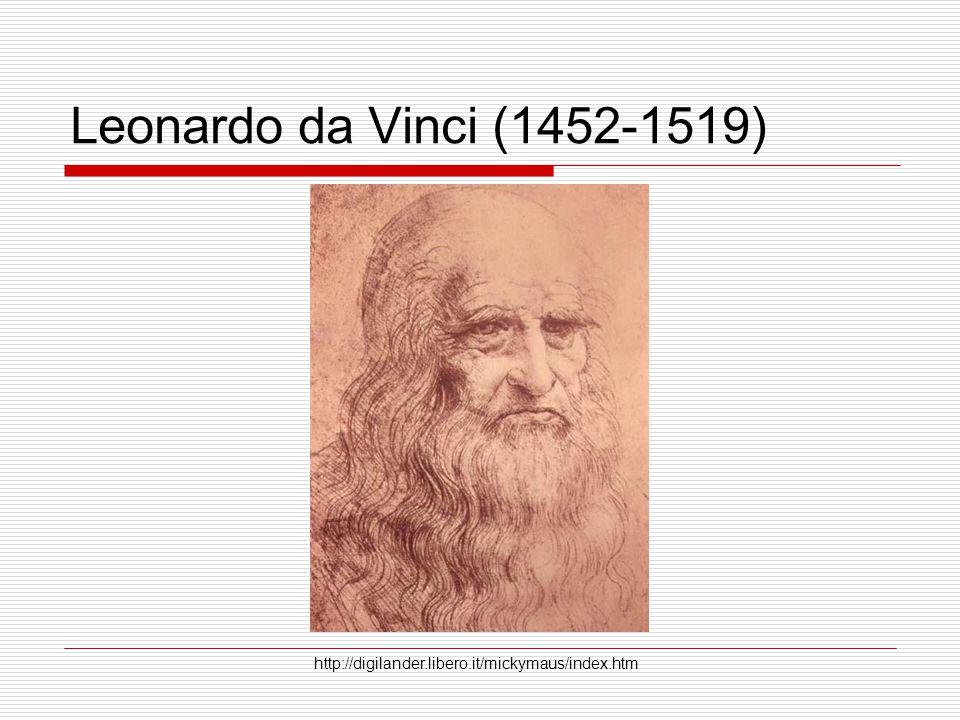 Leonardo da Vinci (1452-1519) http://digilander.libero.it/mickymaus/index.htm