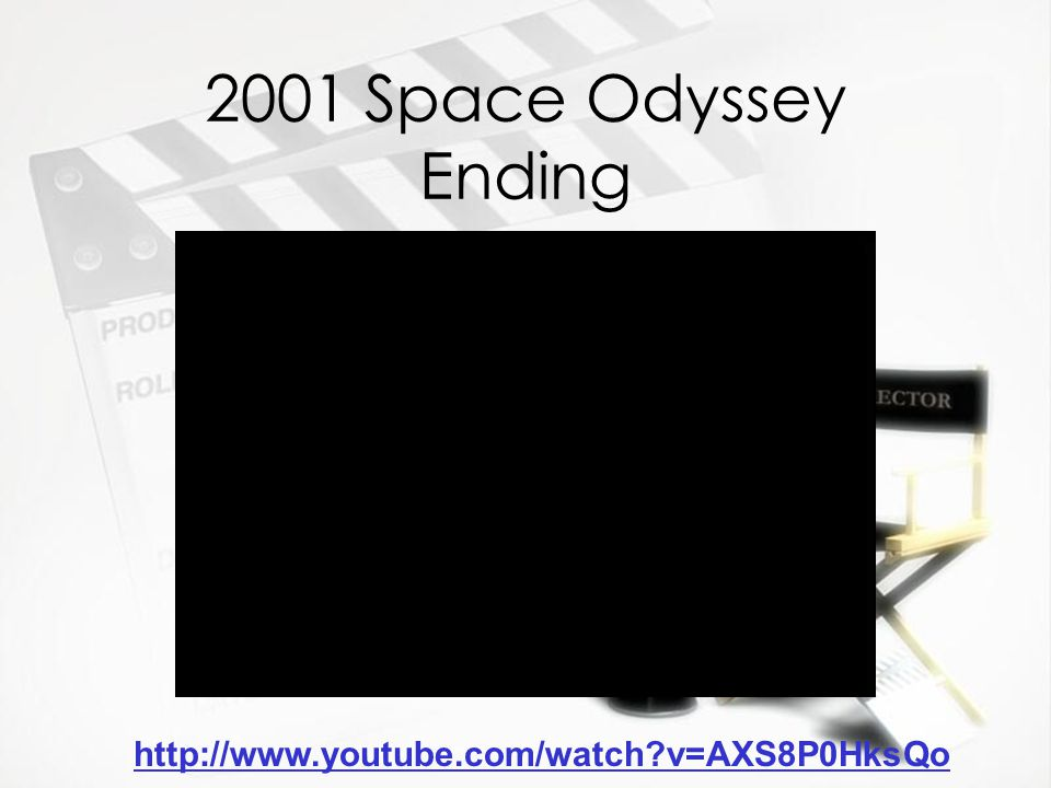 2001 Space Odyssey Ending http://www.youtube.com/watch?v=AXS8P0HksQo