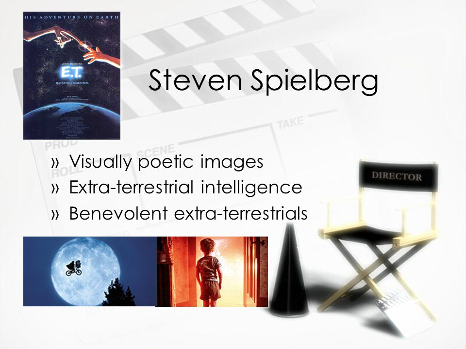 Steven Spielberg »Visually poetic images »Extra-terrestrial intelligence »Benevolent extra-terrestrials »Visually poetic images »Extra-terrestrial intelligence »Benevolent extra-terrestrials