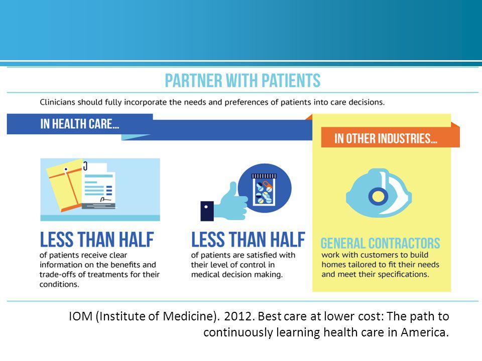 IOM (Institute of Medicine). 2012.