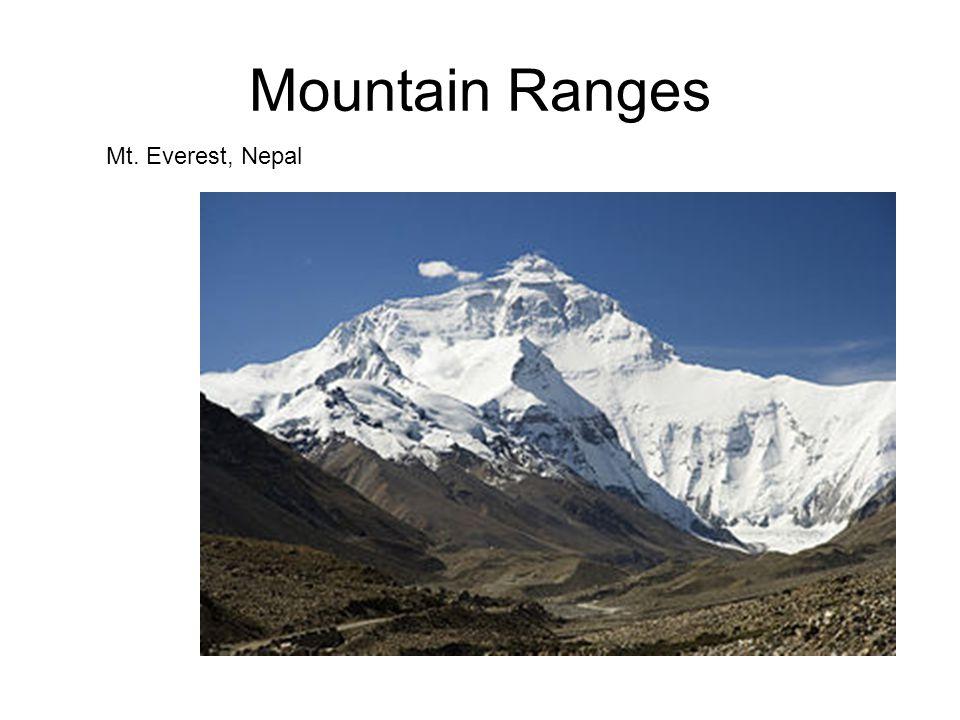 Mountain Ranges Mt. Everest, Nepal