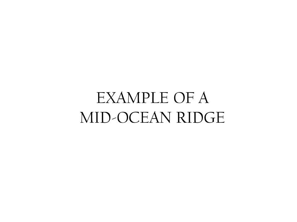 EXAMPLE OF A MID-OCEAN RIDGE